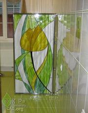Витражное стекло,  элементы декора,  установка витража Украина