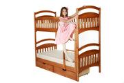 Детские двухъярусные кровати из дерева от мебельной фабрики
