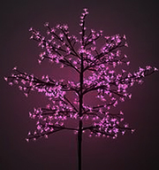 Олень фигура,  светящиеся деревья Сакура