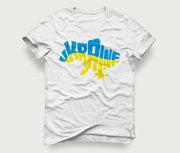 Акция! Мужская футболка «Карта Ukraine» по очень низкой цене