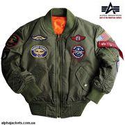 Детские лётные куртки Alpha Industries Inc.USA