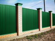 Забор из профнастила. Монтаж. г. Черкассы