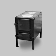 Печь буржуйка с двумя варочными поверхностями КВД 150