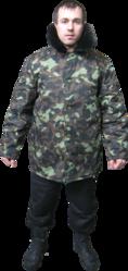 куртка утепленная камуфлированая
