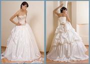 свадебное платье,  цвет- молочый p.42-44